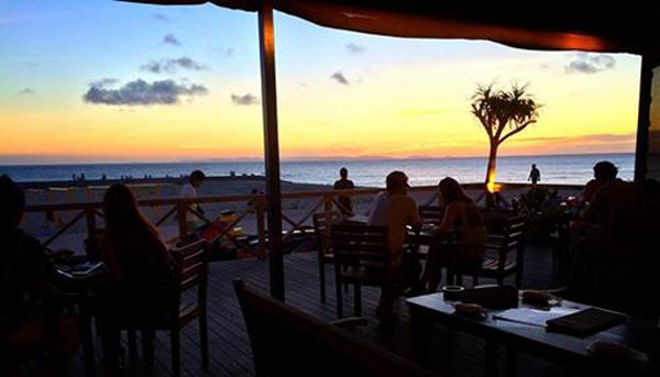 沖縄に着いたときにはこんなにいい天気だった