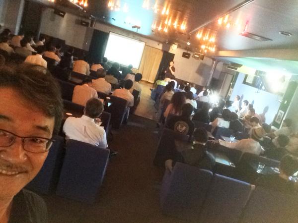 昨日のセミナーの様子 中小企業診断士、乗山さんが講演中