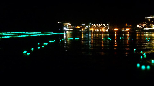 阿寒湖の夏のイベント「夏希灯」