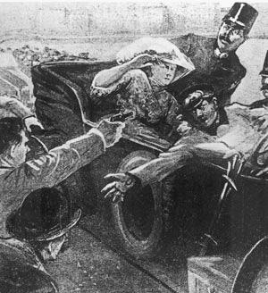 サラエボ事件の報道挿絵