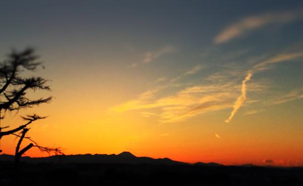 自宅のバルコニーから撮影 夕日がきれいだった