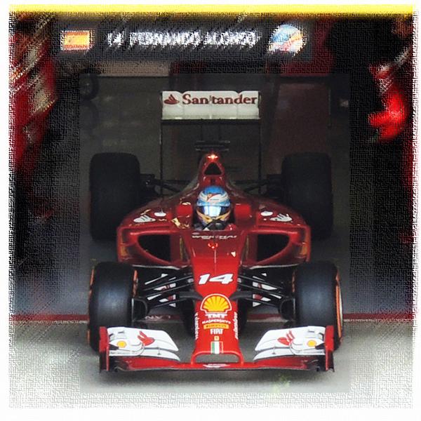 フェラーリのアロンソ 2014年鈴鹿での勇姿
