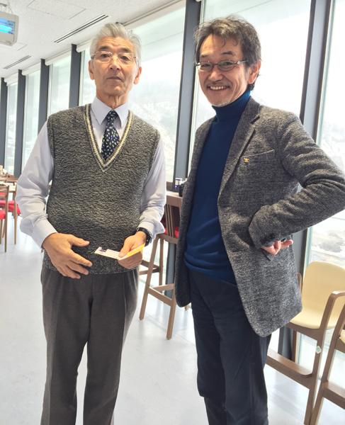 有名な村上館長と写真を撮ってもらいました