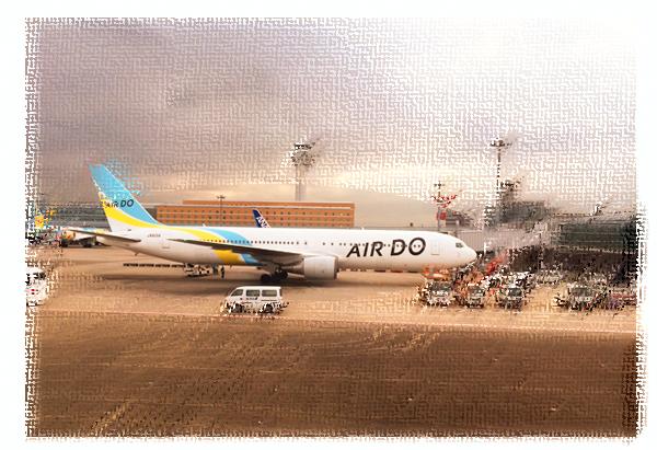 羽田に駐機していたAIR DO機