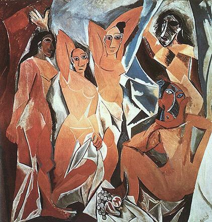 ピカソ「アビニョンの娘たち」1907年