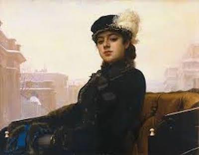 ロシアの画家イワン・クラムスコイの名作 「見知らぬ女」