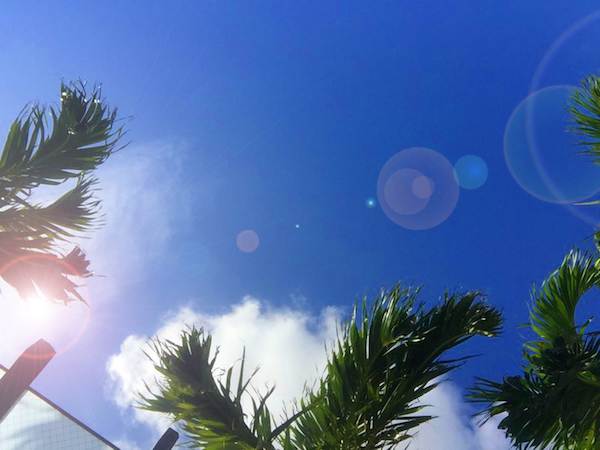 沖縄は10月も終わりなのにまだ夏!