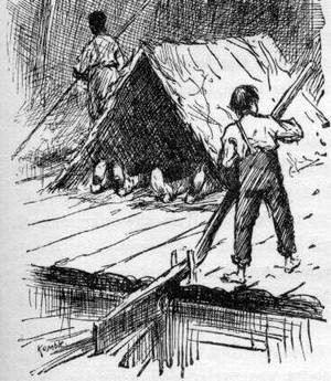 ハックルベリー・フィンの冒険(1884年版の挿絵より)
