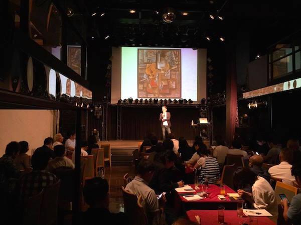 エクスマセミナー大阪の様子 キュビズムの巨匠ブラックのことを話している