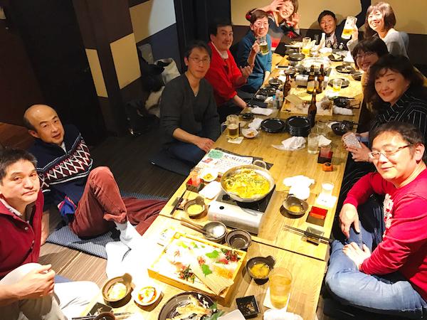 高校の同級生と釧路の塾生さんたち
